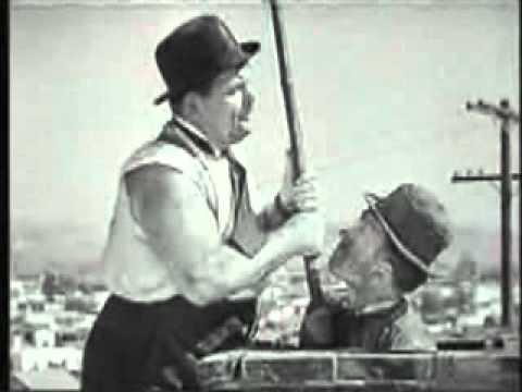 Dick und Doof als Schornsteinfeger