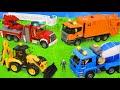 Traktör, Vinç, Ekskavatör ve Yeni - Itfaiyeci oyuncak - polis arabası - Excavator Toys