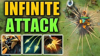 Omega Split Shot with Flak Cannon and Side Gunner Aghs Upgrade | Dota 2 Ability Draft