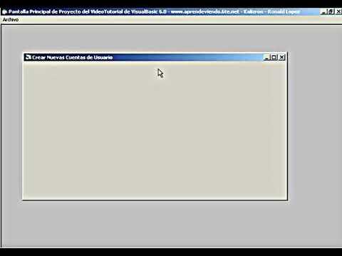 Curso Visual Basic 6 - VT12: Registro de Usuarios y Sesión de Login