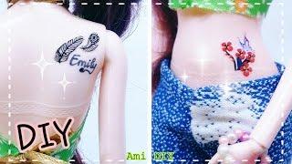 DIY How to make a Doll Tattoo / Cách tạo hình xăm cho búp bê / Ami DIY
