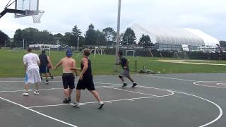 Adam Sandler and Peter Dante Playing Basketball in Swampscott