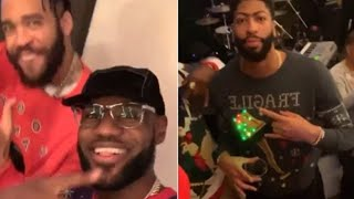 Watch LeBron James & Anthony Davis Look RIDICULOUS At An Ugly Christmas Sweater Party!