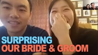 Surprising our Bride and Groom