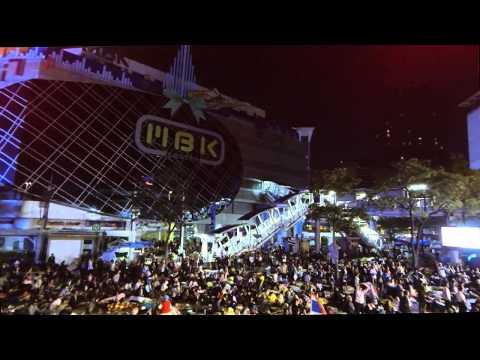 Bangkok Shutdown January 14 2014 – Pratumwan/MBK aerial drone footage