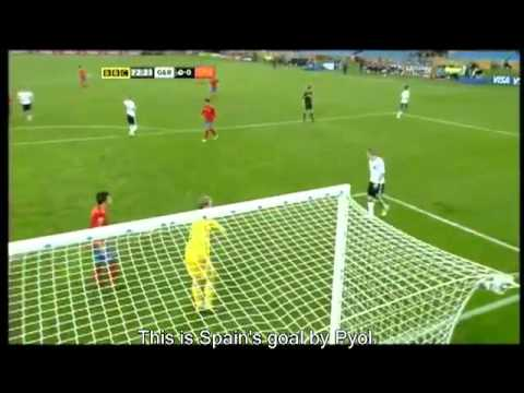 Germany 0-1 Spain Referee Mistakes South Africa World Cup 2010