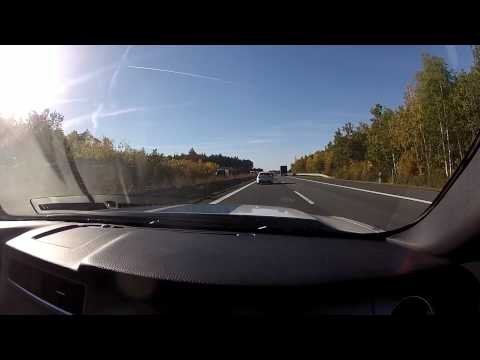 2013 Ford Mustang Shelby GT 500 on the German Autobahn Part 1