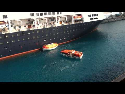 Cruise Ship Disaster - Lifeboat Drill Mishap In HD