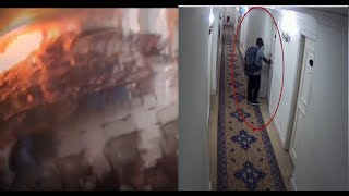 Moment of explosion at Sri Lanka's Kingsbury Hotel caught on CCTV