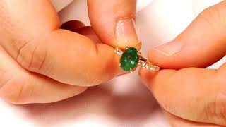 2.09 ct. Emerald Ring in 14kt Pink/Rose Gold JW0186