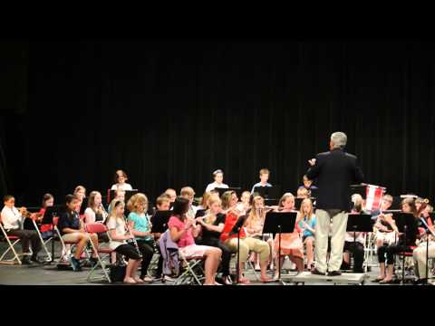 "Beginning honors band at Jefferson College 2013 playing""A LA FIESTA"""