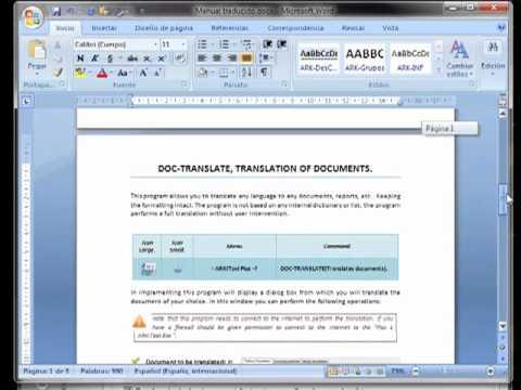 DOC-Translate, traduce automáticamente sus documentos, mantiendo el diseño del documento original.