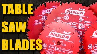Choosing the Best Table Saw Blades: Woodworking for Beginners #30