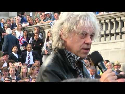 Sir Bob Geldof at the Better Together Rally 15.09.2014