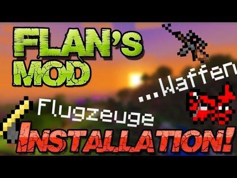 Minecraft 1.7.2 Mods: FLANS MOD - WAFFEN. FLUGZEUGE. PANZER u. mehr! Deutsch German Mac + Win