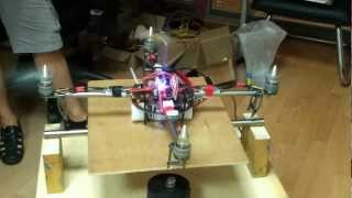Quadcopter with test bed, www.helisis.net