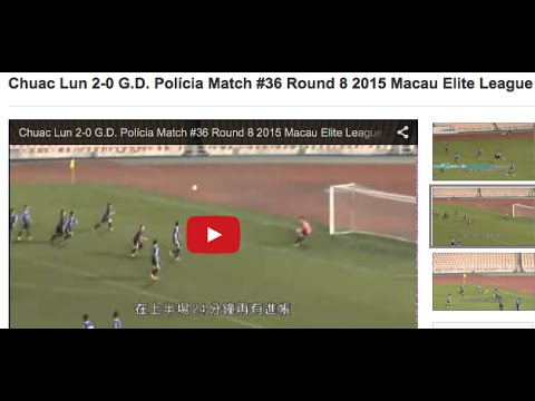 Chuac Lun 2-0 G.D. Polícia Match #36 Round 8 2015 Macau Elite League