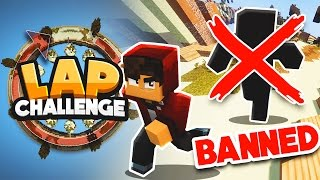 HACKER Gets BANNED MID GAME! (Minecraft SkyWars LAP Challenge)