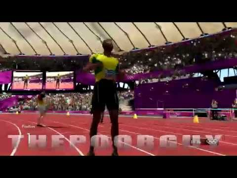 Usain Bolt 200m Final London Olympics video game race Simulation