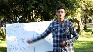 Como calcular area, volumen y peso de un cilindro perforado