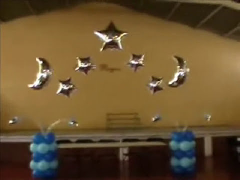 decoracion con globos xv años (mesa de honor) video 3