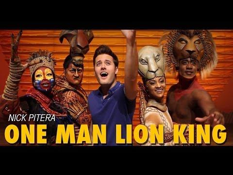 Nick Pitera One Man Tribute to Disney's The Lion King on Broadway