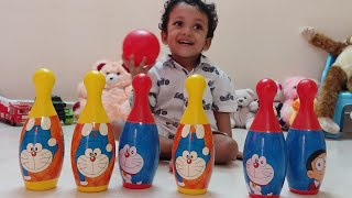 DORAEMON BOWLING TOY SET | FUNNY KIDS FIRST TIME BOWLING