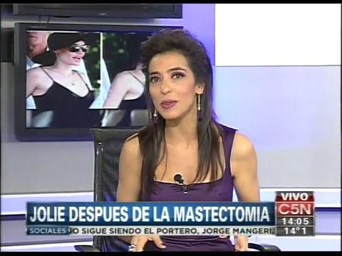 C5N - ESPECTACULOS: ANGELINA JOLIE DESPUES DE LA MASTECTOMIA