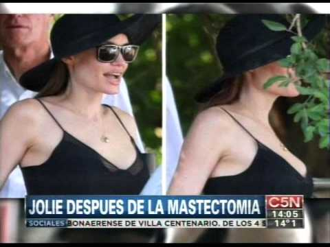 C5N - ESPECTACULOS: ANGELINA JOLIE DESPUES DE LA MASTECTOMIA