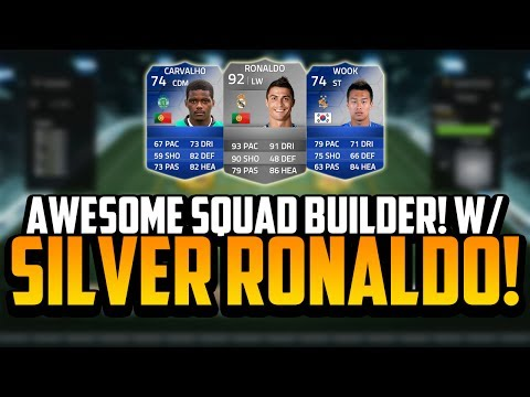 AWESOME SQUAD BUILDER! w/ THE SILVER RONALDO!   FIFA 14 Ultimate Team