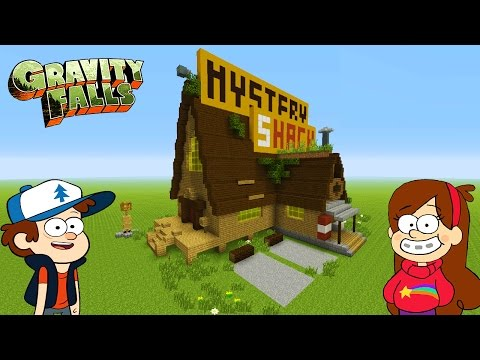Minecraft Tutorial: How To Make 'The Mystery Shack' 'Gravity Falls'