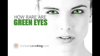 Green Eyes, How Rare Are They?