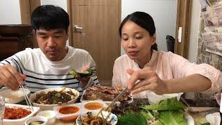 |Tập 170| CHỒNG HÀN VỢ VIỆT JOKBAL- GIÒ HEO HẦM THẢO MỘC MUKBANG.PIGS FEET MUKBANG.족발 먹기.