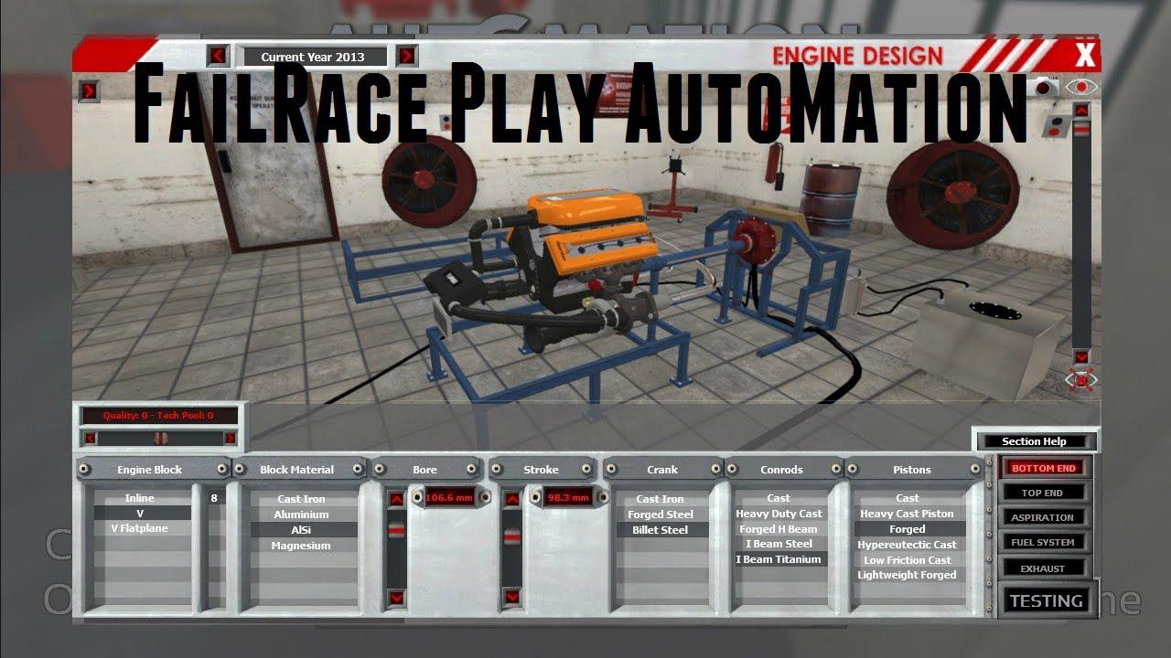 FailRace Play... Automation Car Company Tycoon Game - YouTube