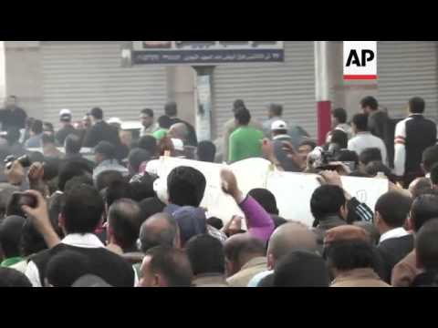 Protesters on streets for funeral of demonstrator shot during clashes
