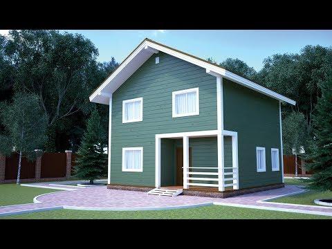 Каркасные дома 8х8  видео 112