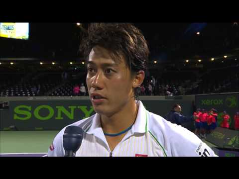 Nishikori Discusses His Win Over Federer In The 2014 Miami Quarter-finals