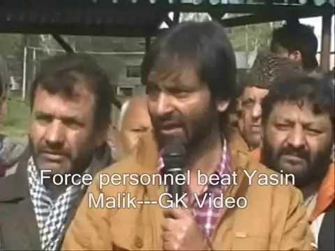 Yasin Malik beaten