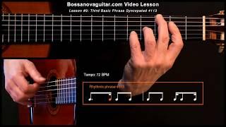 Meditação Meditation Bossa Nova Guitar Lesson 9 Third Basic Phrase Syncopated