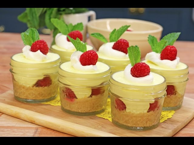 Lemon Raspberry Cheesecakes | No BAKE | Single serve or recipe for 12 ...