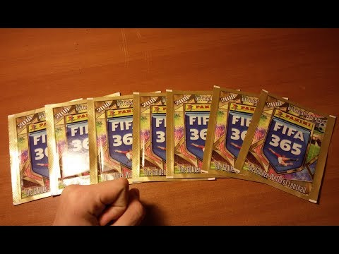 "Распаковка наклеек ""FIFA 365"" Panini (2018) - Открытие 7 пачек {|} PACK OPENING"