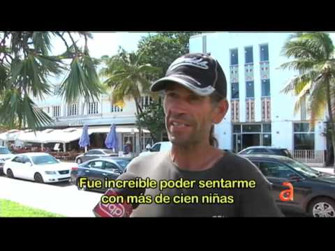 Un año después AQP visita a David Kahmann el homeless de South Beach