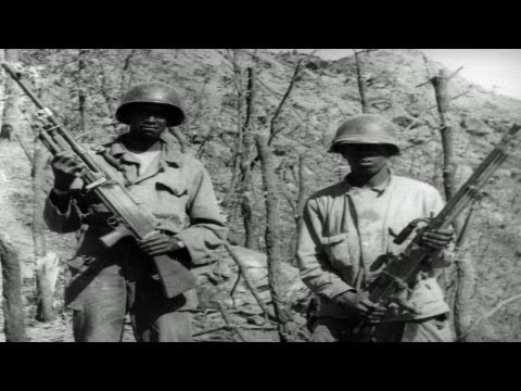 HD Historic Archival Stock Footage Korean War 1951 Artillery Blasting Hill 477