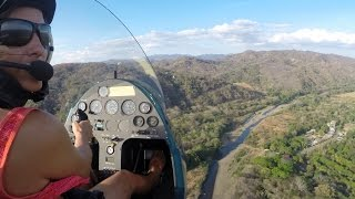 Gyrocopter Girl Flying  & Landings Costa Rica MRFC TM MR 2014