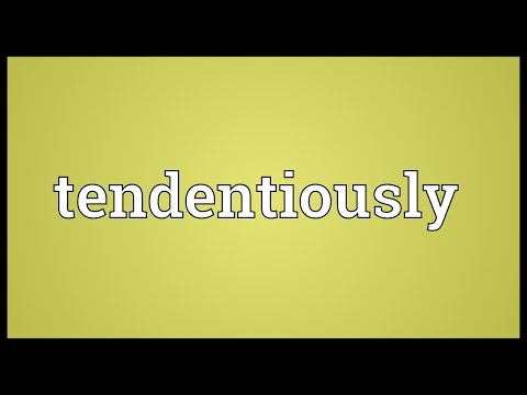 Header of tendentiously