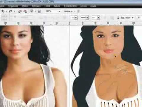 Nathalie Kelley VECTOR SPEED by:Eduardo Couy (corel draw x4)