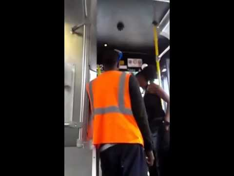 Bus Driver Uppercuts The Fuck Outta Teen Girl In Cleveland ( Full Version ) video