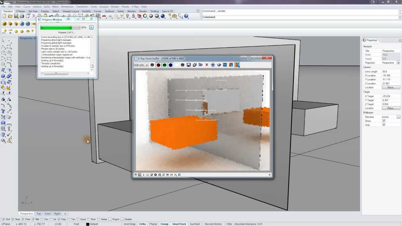 Vray For Rhino Mirrors And Glass Youtube