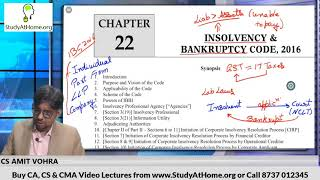 Insolvency & Bankruptcy Code, 2016 | CA Final Law by CS Amit Vohra