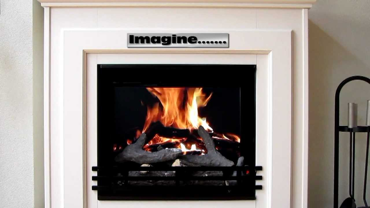Digital Fireplace The Easiest Cheapest And Most Realistic 39 Build Your Own 39 Fireplace Ever